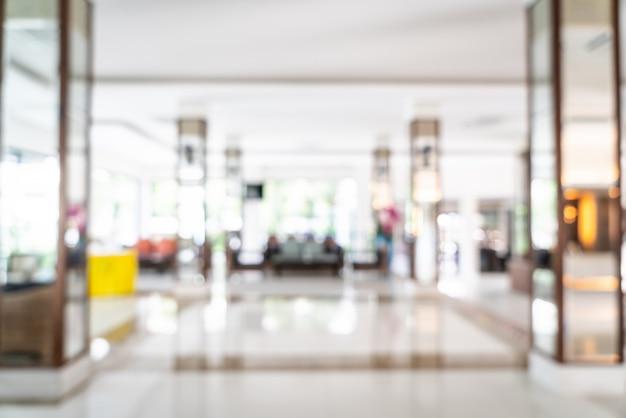 Abstrait flou et défocalisé à l'intérieur de l'hôtel