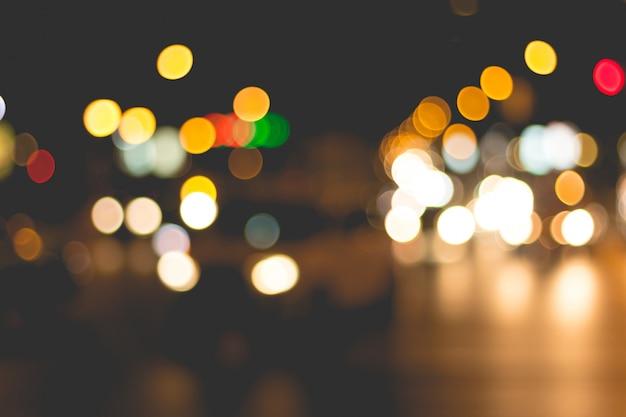 Abstrait de flou d'éclairage pendant les embouteillages