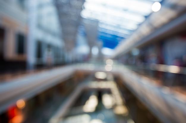 Abstrait flou fond de centre commercial