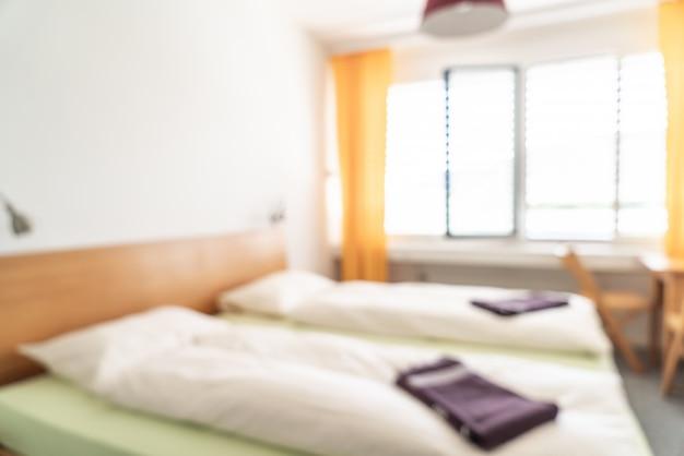 Abstrait flou intérieur de chambre