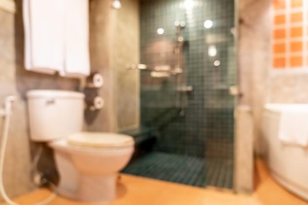 Abstrait flou intérieur de salle de bain et toilette