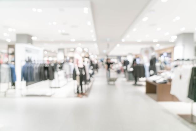 Abstrait flou magasin de détail de luxe dans un centre commercial