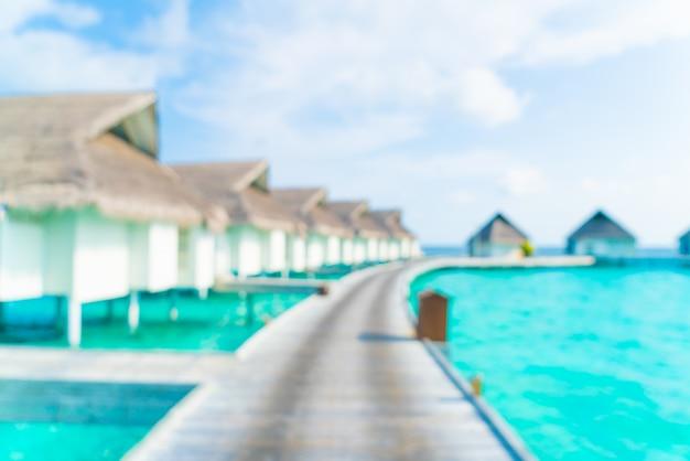 Abstrait flou plage tropicale et mer aux maldives pour le fond