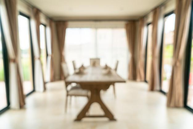 Abstrait flou salle à manger