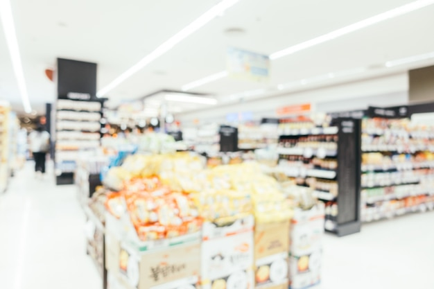 Abstrait flou supermarché intérieur