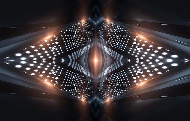 Abstrait fond sombre moderne avec des rayons et des lignes