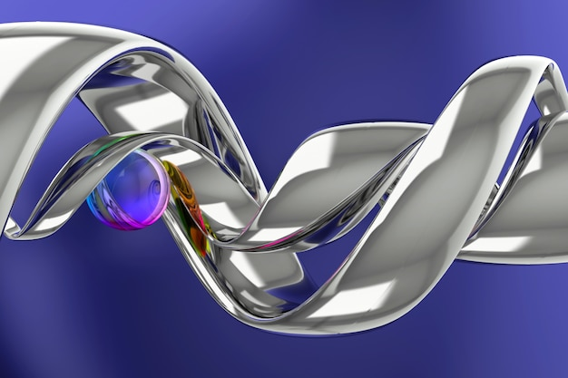 Abstrait de forme géométrique. conception d'arrière-plan 3d. rendu 3d.