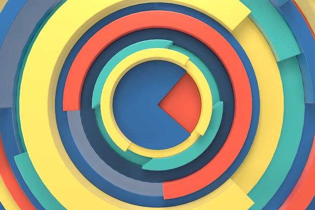 Abstrait de forme géométrique. rendu 3d.
