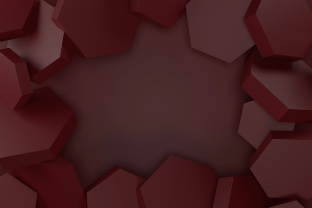 Abstrait de forme hexagonale. rendu 3d.