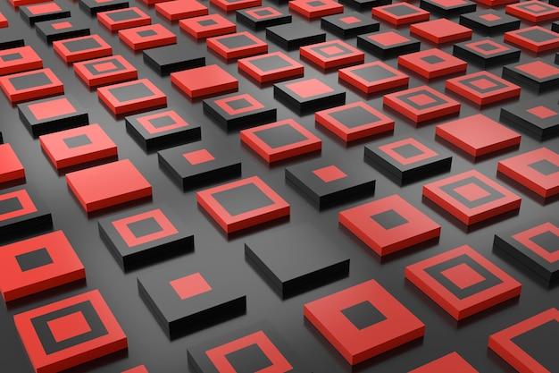 Abstrait de forme ractangle. conception de fond 3d. rendu 3d.