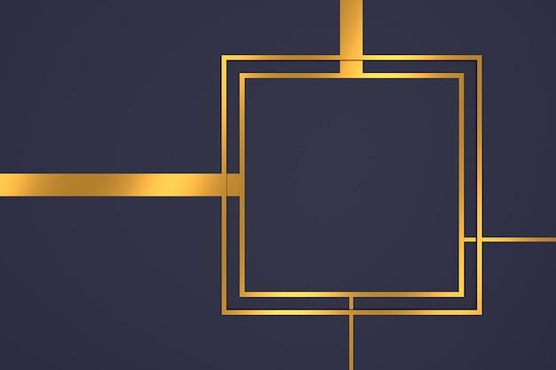 Abstrait de forme rectangle avec des concepts de luxe en rendu 3d