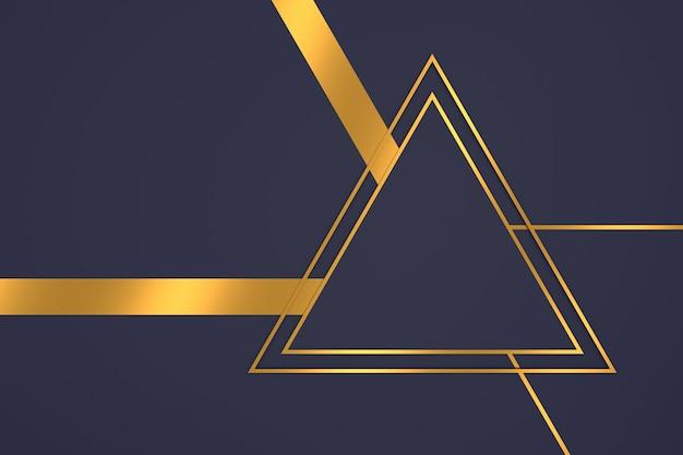 Abstrait de forme de triangle avec des concepts de luxe en rendu 3d