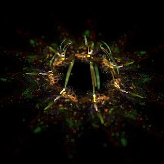 Abstrait formes fractales fond