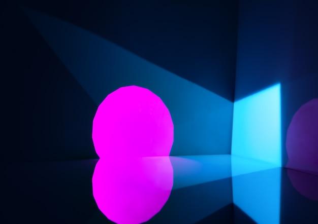 Abstrait avec des formes géométriques faites de lumière