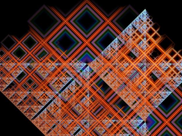 Abstrait fractal créatif luxuriant