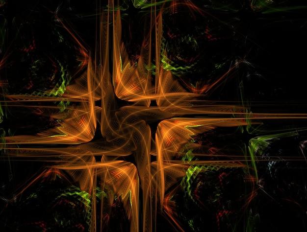 Abstrait fractal psychédélique
