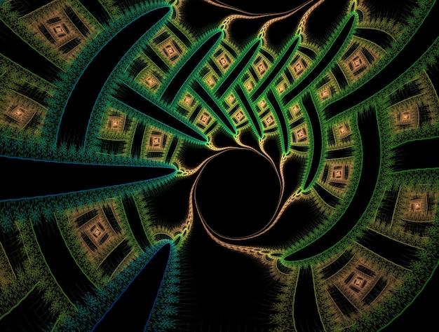 Abstrait fractal