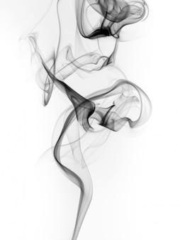 Abstrait fumée noire qui coule