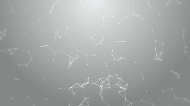 Abstrait futuriste 3d, connexion réseau. réseau. fond de science. big data