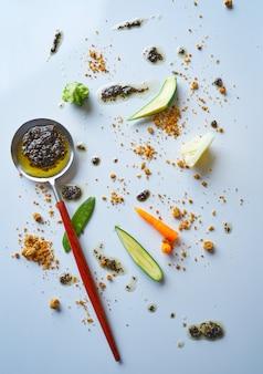 Abstrait gastronomie avant-garde concept cuisine moléculaire
