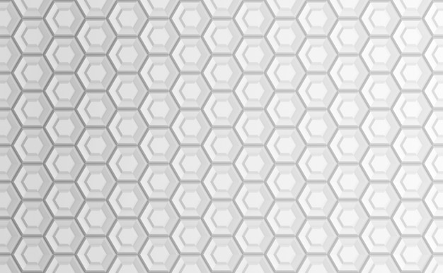 Abstrait géométrique blanc basé sur une grille hexagonale