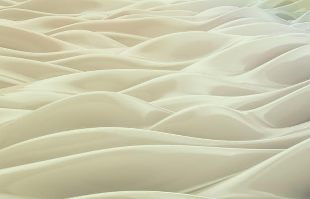 Abstrait géométrique brillant, texture irisée, vague, liquide. rendu 3d.