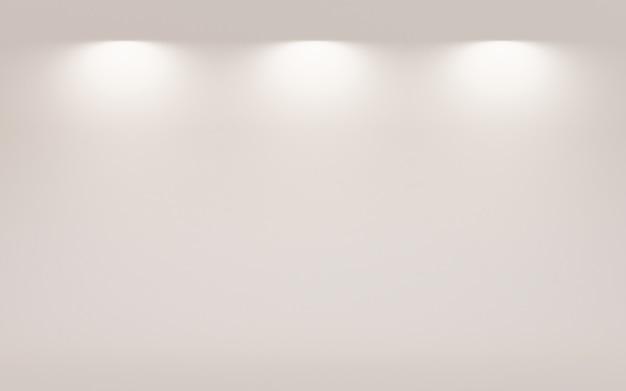 Abstrait gris foncé avec fond dégradé blanc fond d'écran vide studio chambre utilisé pour afficher le produit ad site web modèle, illustration 3d