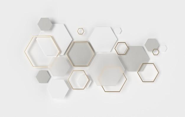 Abstrait hexagonal, effet de profondeur de champ