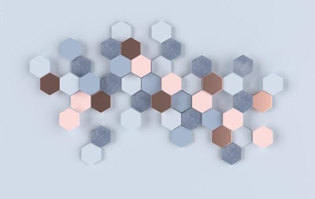Abstrait hexagonal