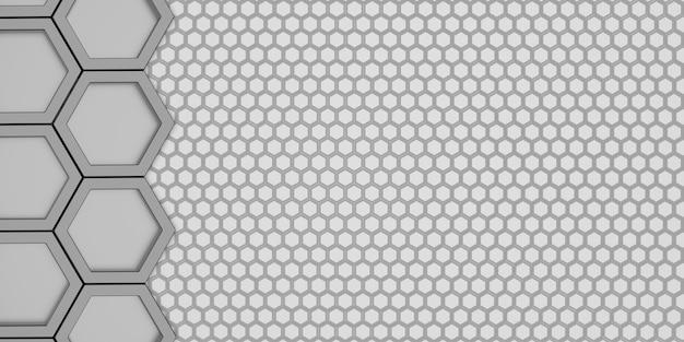 Abstrait hexagone deux couches hexagonal honeycomb ombre murale hexagonale