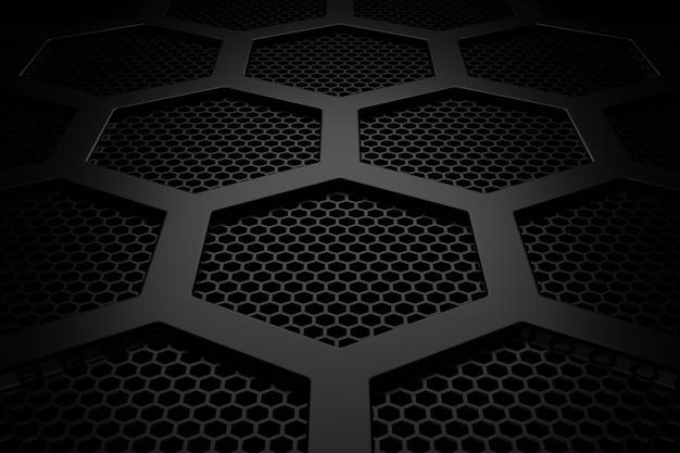 Abstrait de l'hexagone. rendu 3d.