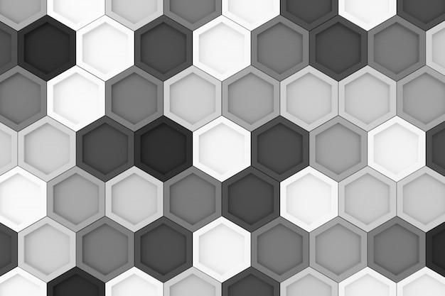 Abstrait d'hexagone