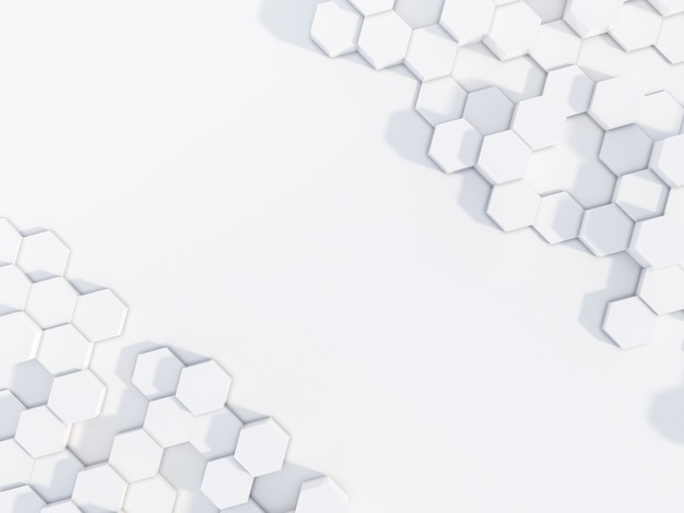 Abstrait de l'hexagone