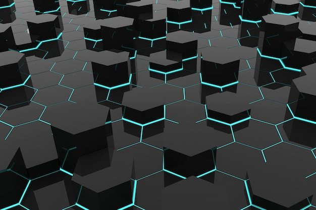 Abstrait avec des hexagones géométriques