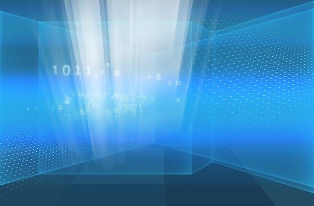 Abstrait high tech 3d technologie de l'espace numérique