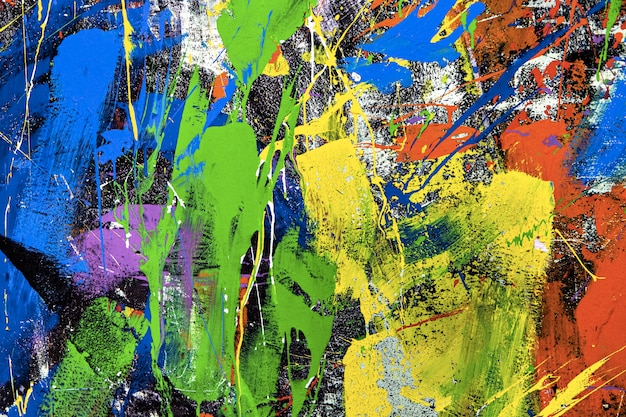 Abstrait horizontal avec mur peint
