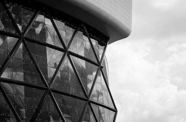Abstrait d'un immeuble moderne avec ligne géométrique