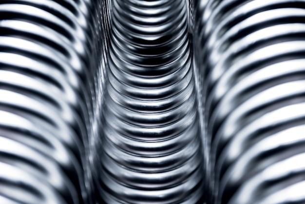 Abstrait industriel de la construction de tuyaux métalliques.