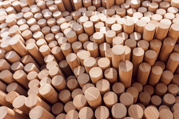 Abstrait de journal de bois empilé pour la conception de votre environnement.