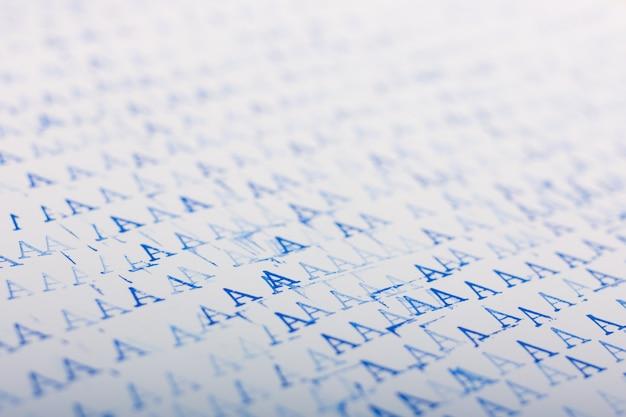 Abstrait avec les lettres bleues a.