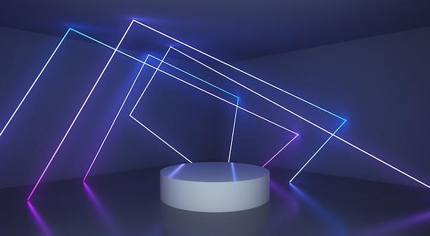 Abstrait avec ligne de lumière rougeoyante