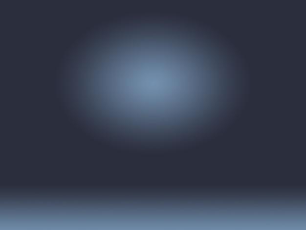 Abstrait lisse bleu foncé avec vignette noire studio bien utilisé comme arrière-plan, rapport d'activité, numérique, modèle de site web, toile de fond.