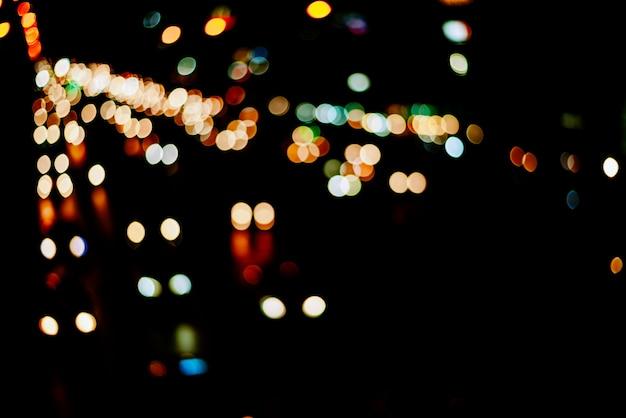 Abstrait lumière bokeh, flou fond clair bokeh coloré