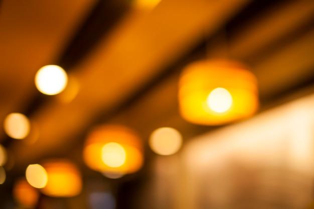Abstrait avec lumières défocalisés bokeh