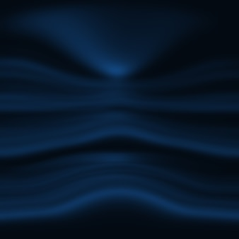 Abstrait luxe dégradé bleu. bleu foncé lisse avec bannière studio vignette noire.