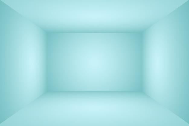 Abstrait luxe dégradé bleu fond lisse bleu foncé avec vignette noire studio bannière d studio...