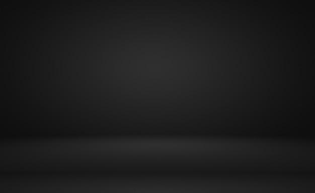 Abstrait luxe flou dégradé gris foncé et noir