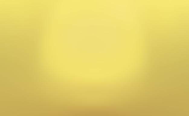 Abstrait luxe mur de studio dégradé jaune or, bien utiliser comme présentation, mise en page, bannière et produit.