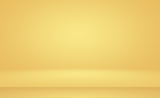 Abstrait luxe or jaune dégradé studio fond.
