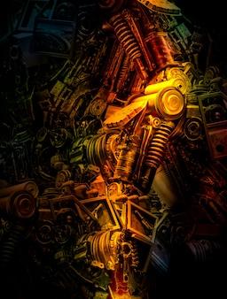 Abstrait de la machine pour le concept de technologie et de l'industrie